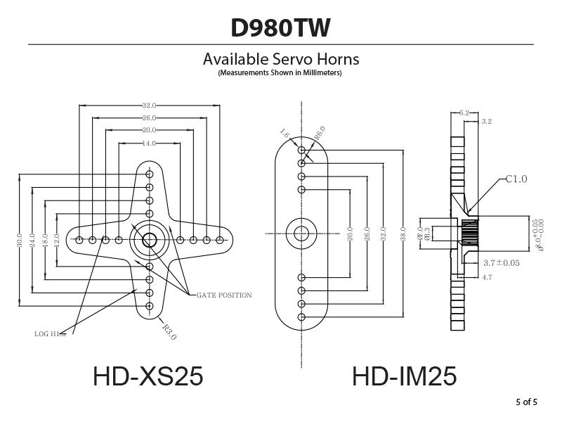 D 980tw 32 Bit Monster Torque Titanium Gear Servo
