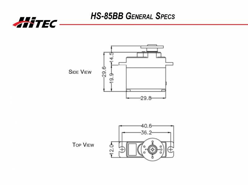 HS85 BB Hitec HS-85BB Premium Micro Servo HS85BB 2