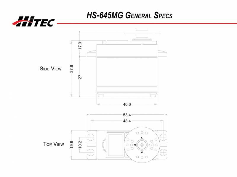 Hitec HS-645MG High-Torque 2BB Metal Gear Servo 32645S