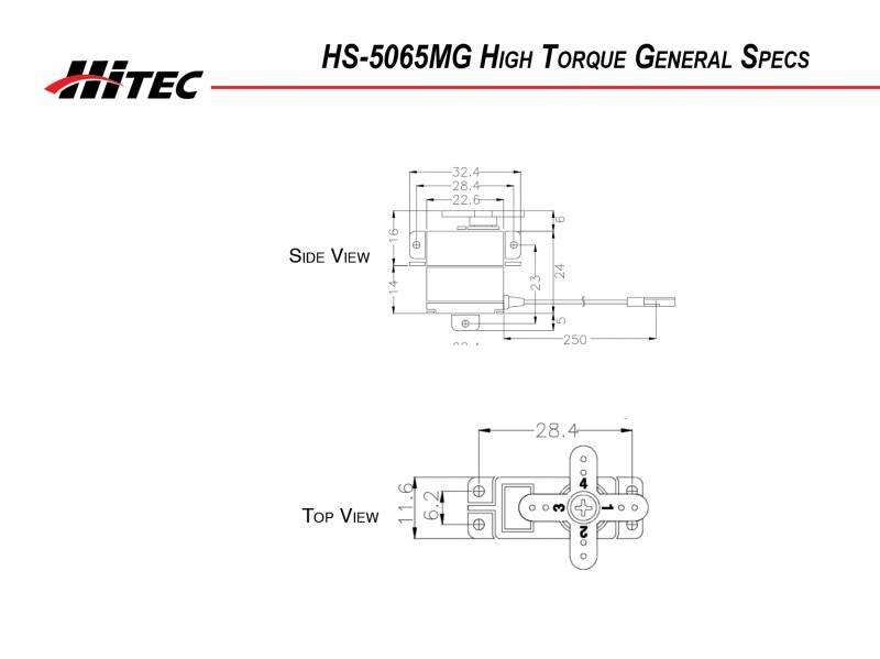 NEW Hitec HS-5065MG Servo
