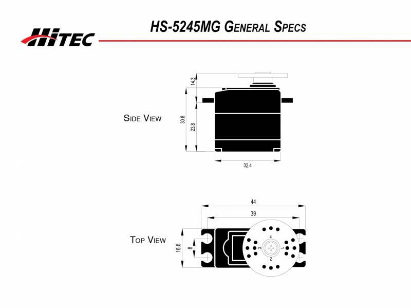 HS-5245MG Mini Metal Gear Servo | HITEC RCD USA