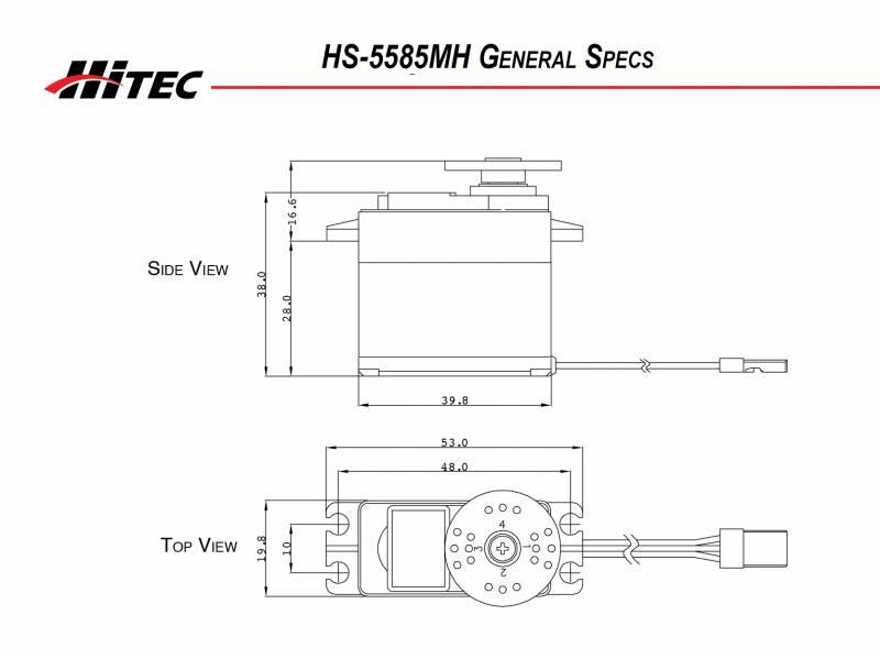 Hitec HS-5585MH Coreless Hi-Torque Metal Gear Servo 4-PACK HS5585MH HS5585