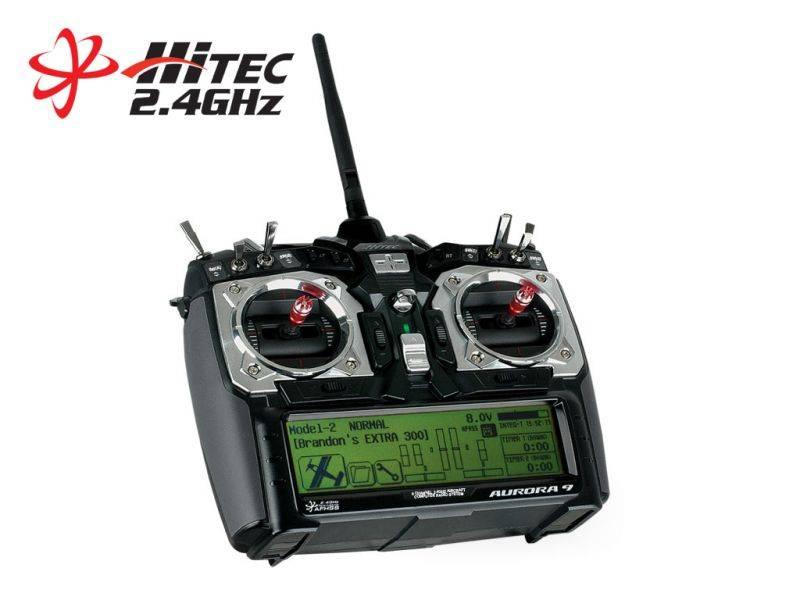 Aurora 9 - 9 Channel 2 4GHz Aircraft Computer Radio | HITEC