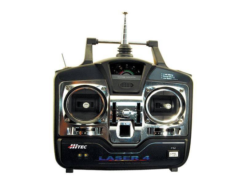 Laser 4 - 72MHz 4 Channel FM Radio   HITEC RCD USA