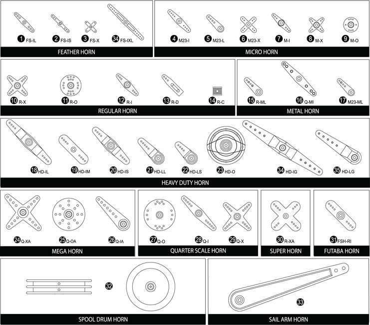 Hitec RCD 55701 Standard Aluminum Servo Arm
